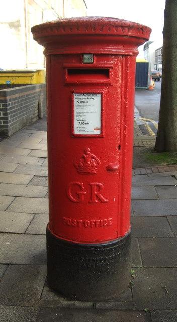 George V postbox on Wright Street, Hull
