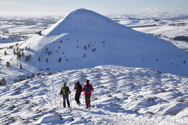 Winter conditions on the Eildon Hills