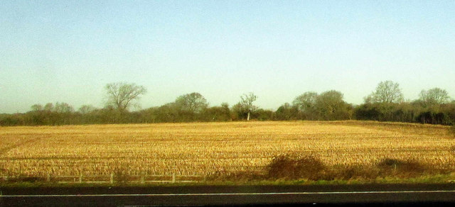 Stubble field by the M4