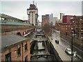 SJ8397 : Rochdale canal at Deansgate by Gerald England