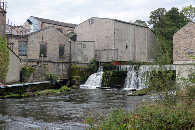 Weir and paper mill, Beetham