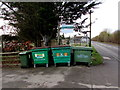 SP2512 : Trade waste wheelie bins at the edge of Woodgrove Farm, Fulbrook by Jaggery