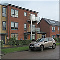 TL4856 : Cherry Hinton: geographical balconies by John Sutton
