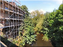 SJ9090 : Scaffolding on the former Rifle Volunteer by Gerald England