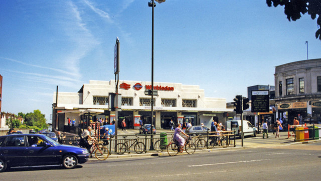 Entrance to Wimbledon station, 1998