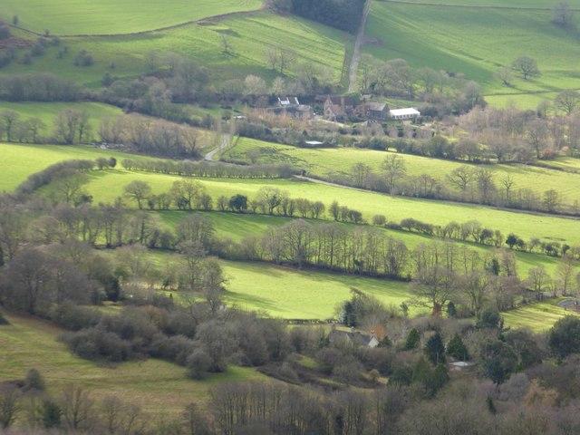 Farmland below the Malvern Hills