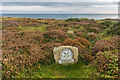 SW3821 : National Trust sign, Pedn-mên-an-mere by Ian Capper