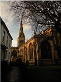 SK7953 : Newark church by norman griffin
