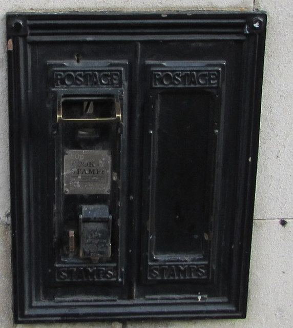 Disused Stamp Dispensers In The Wall Of A Former Post Office Broad Street Hereford
