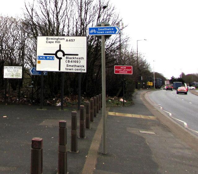 Oldbury Road directions signs, Smethwick