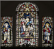 SE5971 : All Saints, Brandsby - Stained glass window by John Salmon