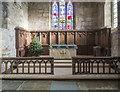 SE5670 : St Cuthbert, Crayke - Sanctuary by John Salmon