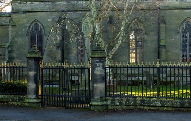 Gateway and railings at St James Church, Shardlow