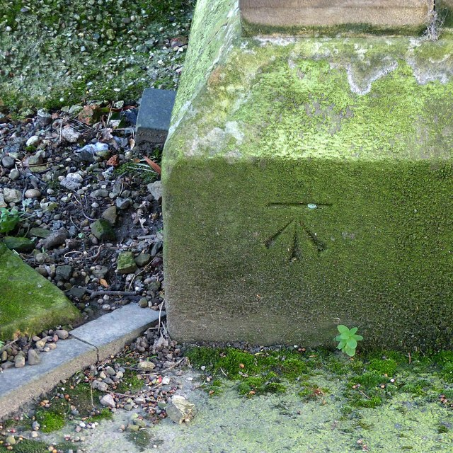 Bench mark, St James' Church, Shardlow