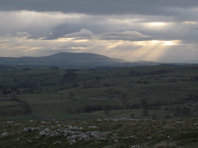Distant view of Pendle