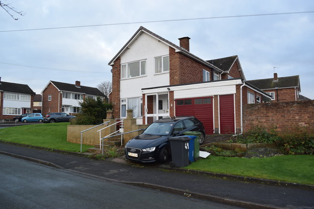 1965 housing Redwell Close in Tamworth