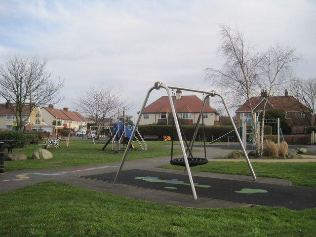 Children's playground in Meols Park