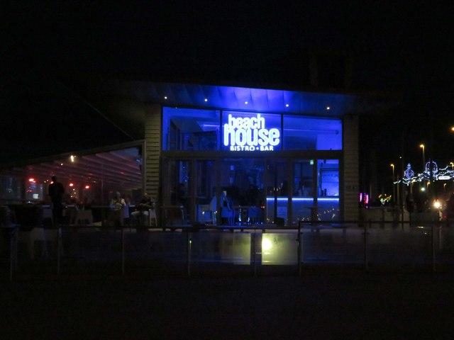 The Beach House bar on the promenade