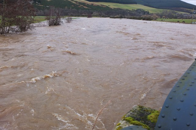 River Tweed in flood, Innerleithen
