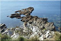 SX0652 : Rocks at Fishing Point by N Chadwick