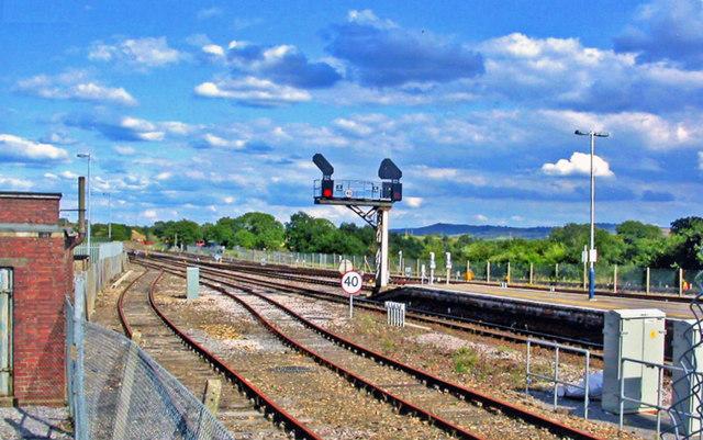 Yeovil Junction station, eastward 2013