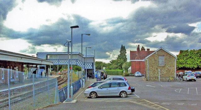 Yeovil Junction station, Up side exterior and car park, 2013