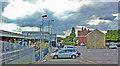 ST5714 : Yeovil Junction station, Up side exterior and car park, 2013 by Ben Brooksbank
