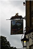 TQ2764 : The Railway Tavern sign by N Chadwick