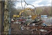 TA0225 : Demolition near the Humber Bridge by Paul Harrop