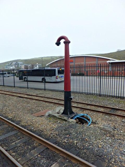Redundant water crane at Douglas Station