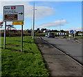ST1379 : Turn right ahead for Radyr Railway Station Park & Ride, Cardiff by Jaggery