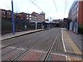 SP0687 : St. Paul's tram stop, Birmingham by Nigel Thompson