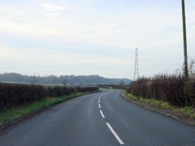 The B5269 heading west