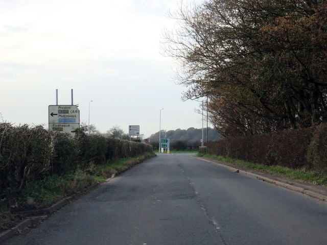 Thistleton Road heading west