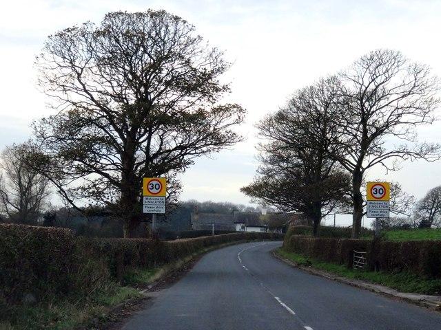 Mile Road entering Singleton