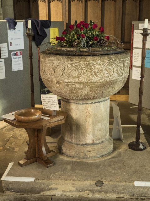 St Mary, Alne - Font