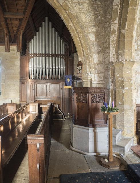 Holy Trinity, Little Ouseburn - Pulpit & organ