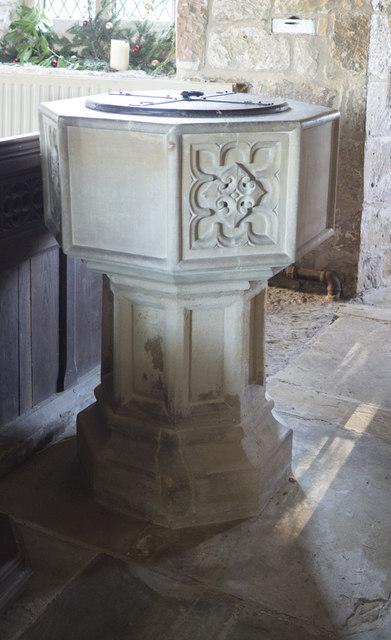 Holy Trinity, Little Ouseburn - Font