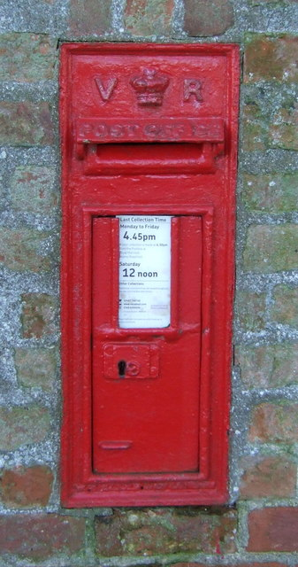 Victorian postbox on Landing Lane, Sandholme Landing