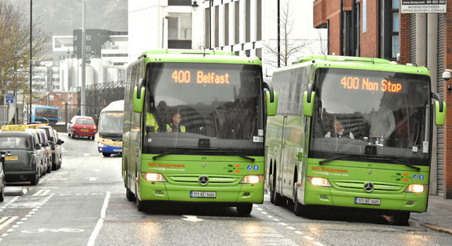 Dublin Coach coaches, Belfast (January 2018)