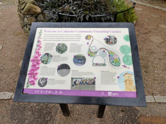 Callander Community Friendship Garden Information Board
