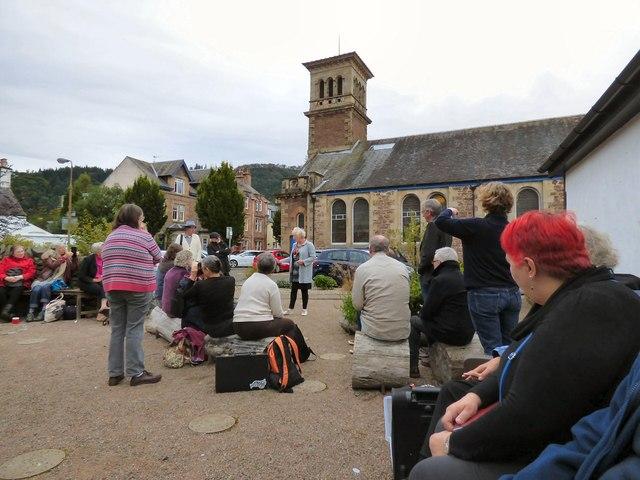 Open air poetry in Callander