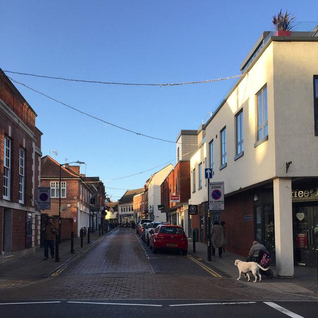 Swan Street from across High Street, Warwick