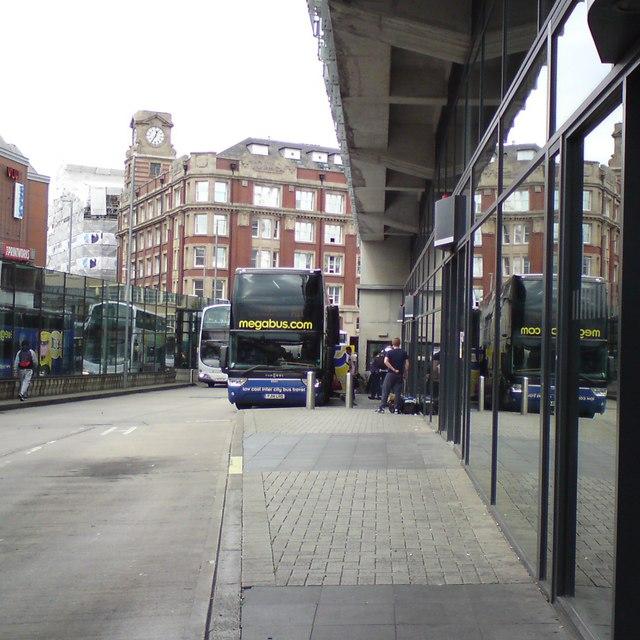 Megabus at Shudehill
