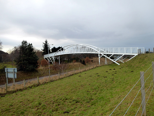 Bridge over the A96 road