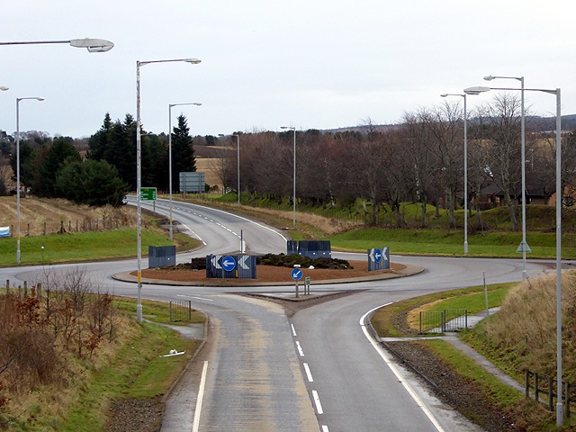 Roundabout at the east of Forres