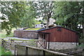 NZ0415 : Stables by the river by Bob Harvey