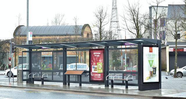 Holywood Arches EWAY halt, Belfast - January 2018(1)