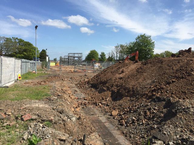 Development progressing on the Avenue station site, Leamington