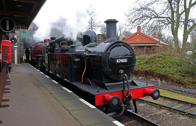 Quorn and Woodhouse Station - first passenger train of the day